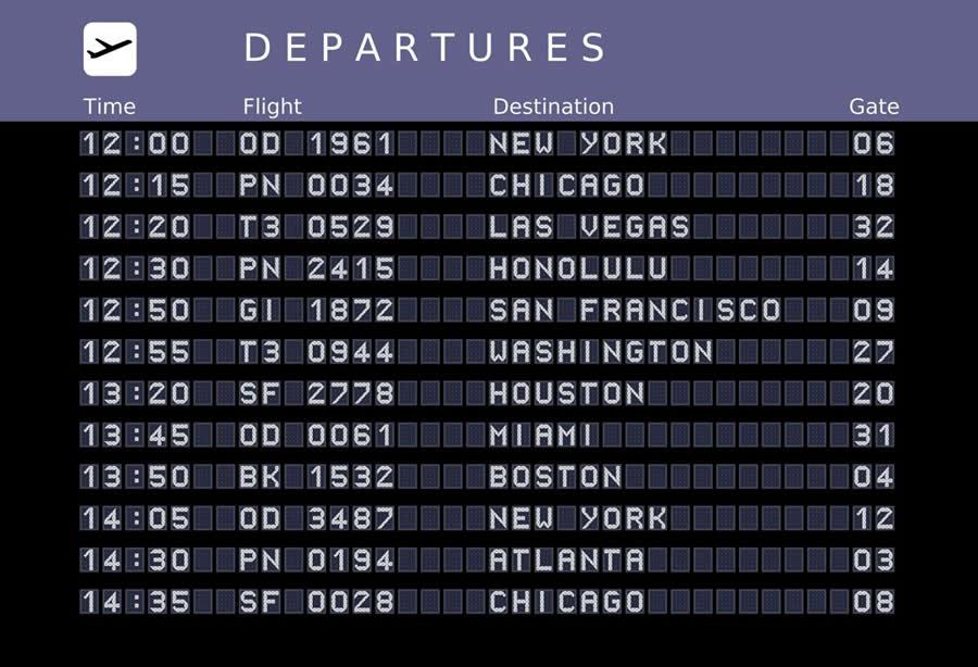 billet d'avion pour les USA
