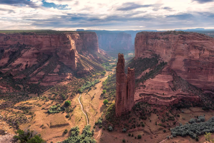 Canyon de Chelly - vue sur Spider Rock