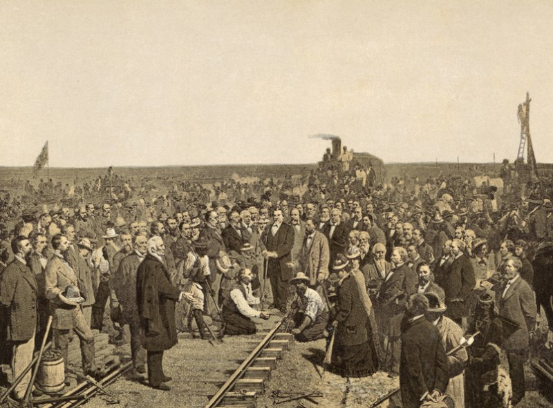 ouverture du first transcontinental railroad