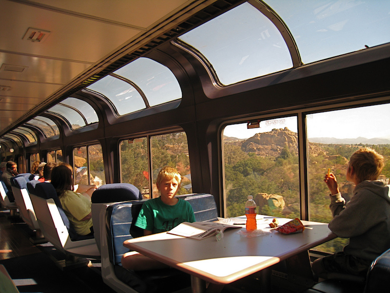 observation car coast starlight
