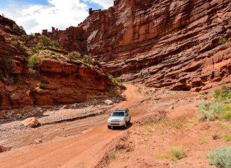 jeep dans les canyons de moab en utah